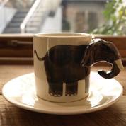 アニマル・カップ&ソーサー|ゾウ